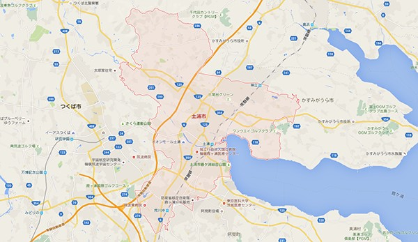 土浦市_地図